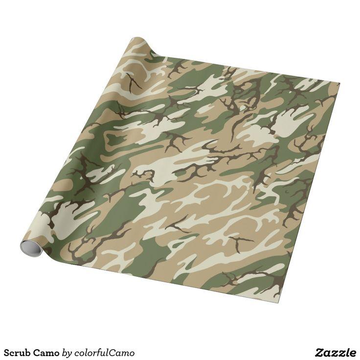 Scrub Camo Wrapping Paper
