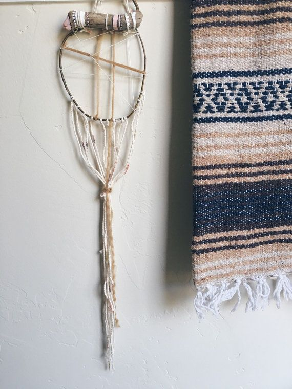 raw dream catcher wall hanging   #wallhanging #dreamcatcher #raw #earth#boho #gypsy #walldecor #tapestry
