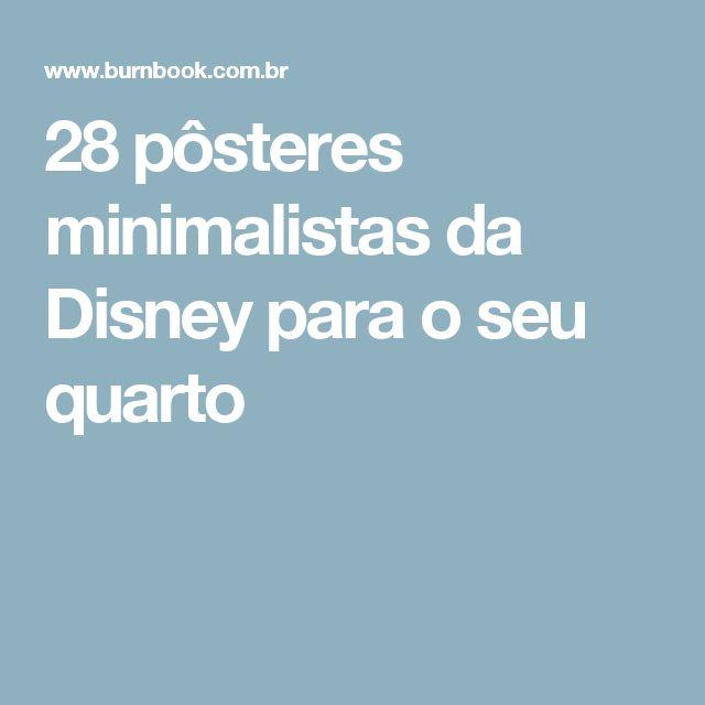 28 pôsteres minimalistas da Disney para o seu quarto