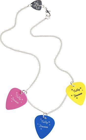 Tatty Devine Plectrum Triple Necklace (Pink/Yellow/Blue) of 42cm