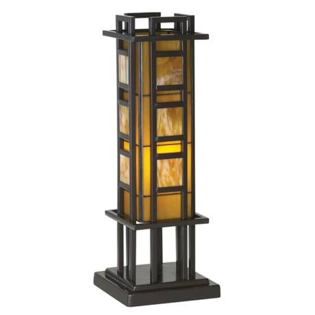 Prairie Style 20 Quot High Pillar Accent Table Lamp Iron