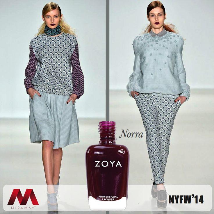 NYFW 2014'de modanın rengi haline gelen Zoya Norra, Noon by Noor defilesinde podyumun yıldızı oldu.