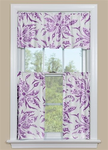 Because Purple Floral Kitchen Curtains (really for any room in your home)