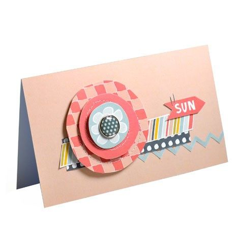 This bright and contemporary card was made with the new range from Craft Asylum, Hello Sunshine.