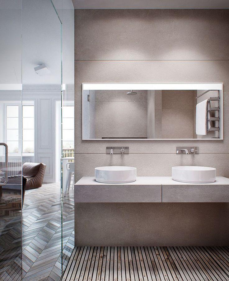Vista del baño desde el box de ducha.
