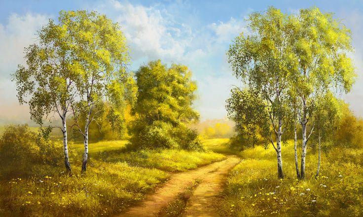 BANCO DE IMAGENES: 17 pinturas digitales de paisajes, animales, flores y frutas.