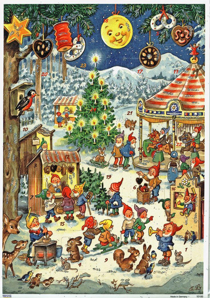 Weihnachtsrummelplatz Adventskalender Kurt Brandes Reprint Silberglimmer 10100 | eBay