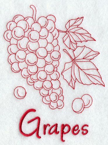 Grapes (Redwork)