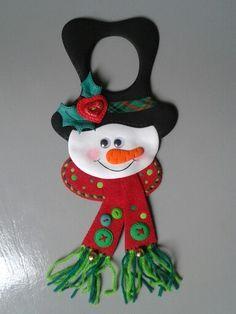 Muñeco de nieve para las puertas con pomos.