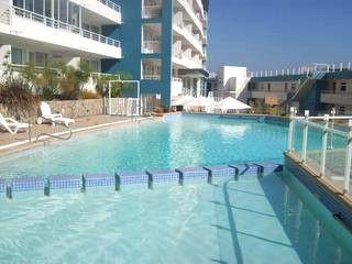 swiming pool - BEACHFRONT APARTM IN CONCON W/BALCONY ON THE OCEAN - Valparaiso - rentals