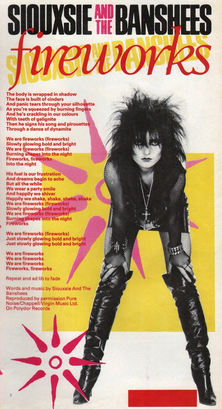 Siouxsie in Smash Hits! May 1982