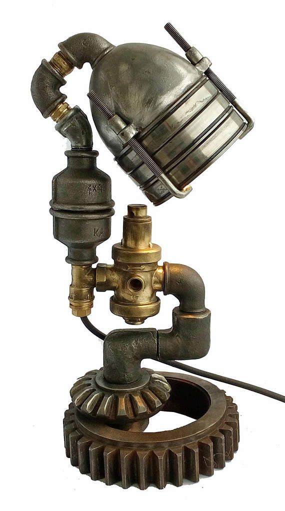 Best 25 steampunk furniture ideas on pinterest for Diy pipe lamp