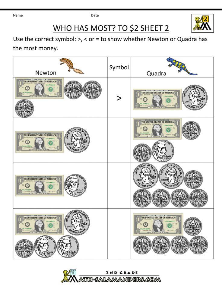 money worksheets who has most 2 homeschool 2nd grade pinterest money worksheets. Black Bedroom Furniture Sets. Home Design Ideas