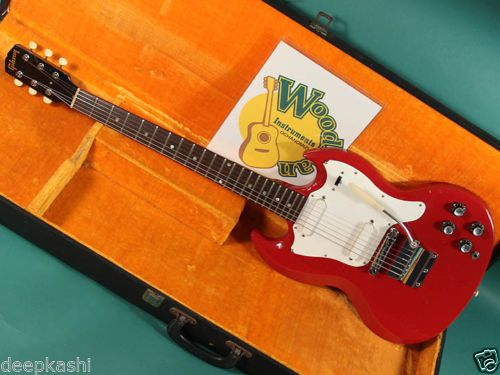 GIBSON-MELODY-MAKER-DOUBLE-FIRE-ENGINE-RED-1967-EX-W-HC-Electric-guitar