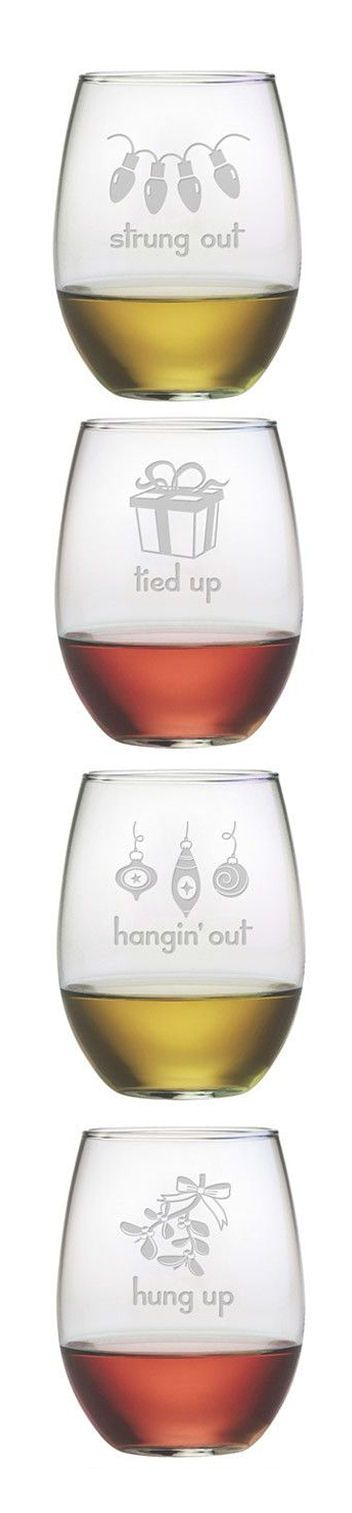 Christmas Wine Glasses....need these.