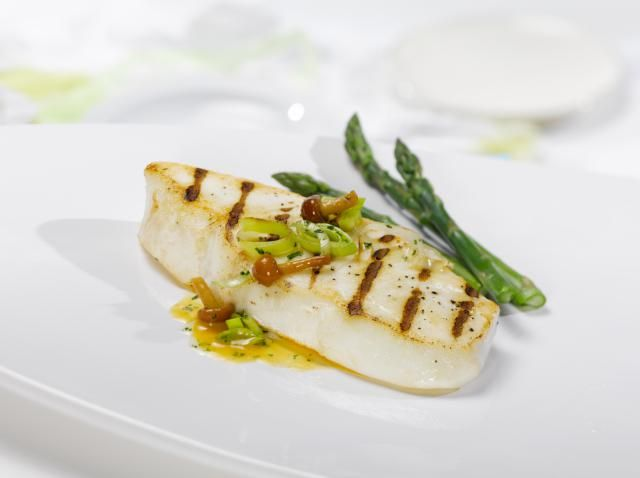 A recipe for seared California halibut with fresh chanterelle mushrooms; this recipe can also be made with any other halibut, and any other mushroom.