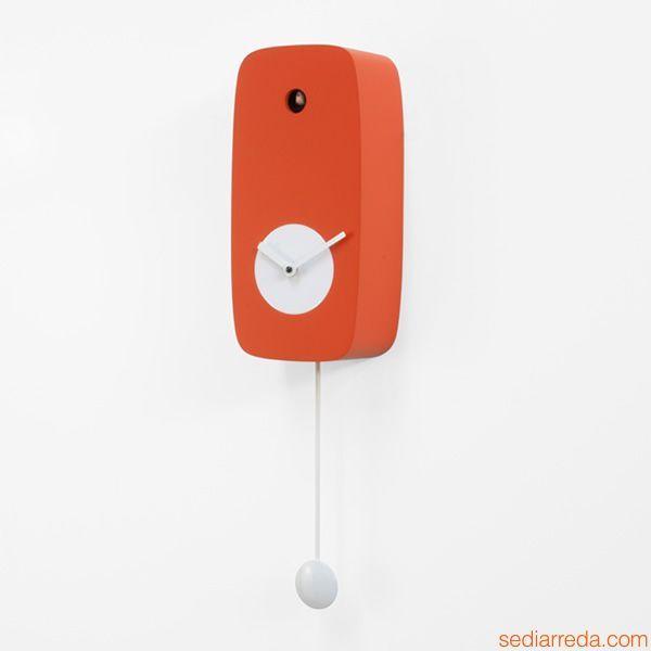 4Stagioni | Horloge coucou en bois couleur orange