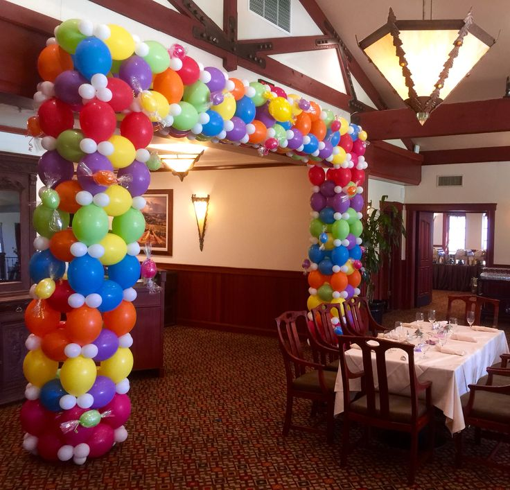 Square candy balloon arch 19 best Balloon