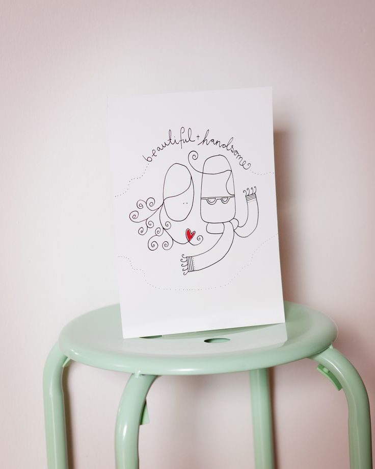 Beutiful + handsome. Perfect for weddings www.strekpoesi.no illustration drawing love couple wedding