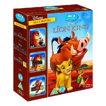 DISNEY The Lion King 1-3 Boxset Blu-ray Please note this is a region B Blu-ray and will require a region B or region Free Blu-ray player in order to play Triple bill of Disney animated features following a naive and curious lion cub as he s http://www.MightGet.com/march-2017-2/disney-the-lion-king-1-3-boxset-blu-ray.asp