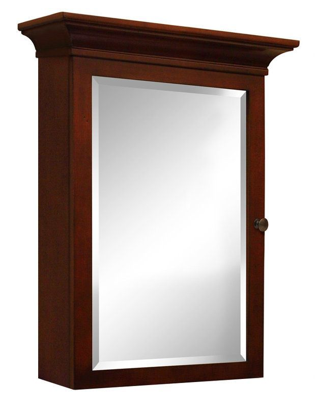 View The Sunny Wood Gh2635m Grand Haven 27 Single Door Framed Medicine Cabinet At Faucetdirect