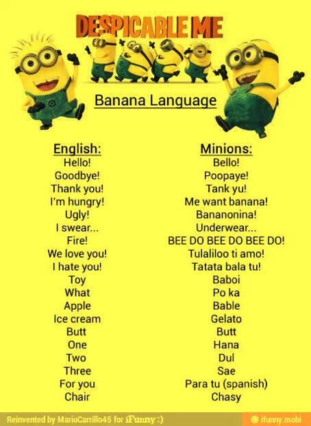 Talk Like A Minion! (banana Language)
