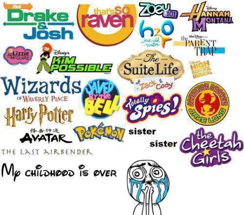 Minus H2O, Zoey 101, Saved by the Bell, and Wizards of Waverly Place...best childhood shows ever!!!