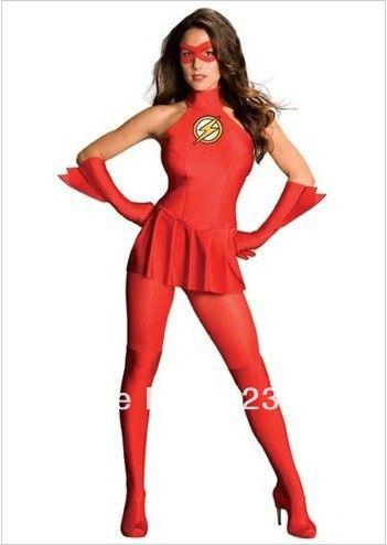 Dwyane Wade | de flitser vrouwelijke versie spandex superheld kostuum halloween kostuums(China (Mainland))