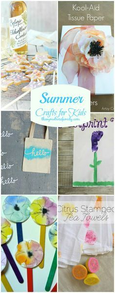 Summer Crafts for Kids that are sure to keep the kids busy!: Kids Summer, Blackbird Families, Summer Crafts For Kids Jpg, Kids Crafts, Melros Families, Crafts Kids, Summer Fun, Kids Business, Summer Kids Activities