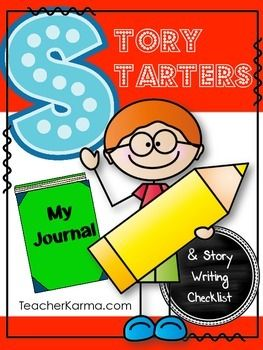 FREEBIE Story Starters Journal Topics and Ideas Writing Center - Checklist..English Language Arts, Creative Writing, Writing Kindergarten, 1st, 2nd, 3rd, 4th, 5th, 6th, Homeschool Activities, Printables, Literacy Center Ideas... STORY STARTERS Freebie is a great little list of writing ideas and topics that you could incorporate into the writing center in your classroom.