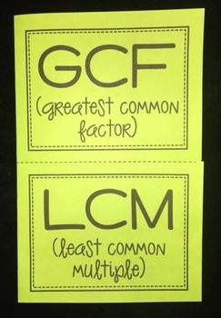 least common multiple word problems gcf and lcm 1 greatest mon : Least ...