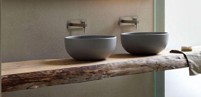 Stijlvol! Een houten wastafelblad in de badkamer