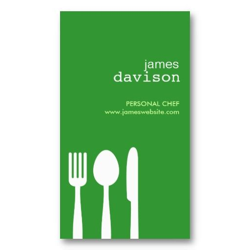 160 best business cards for catering companies chefs and fork spoon knife in green business card reheart Image collections