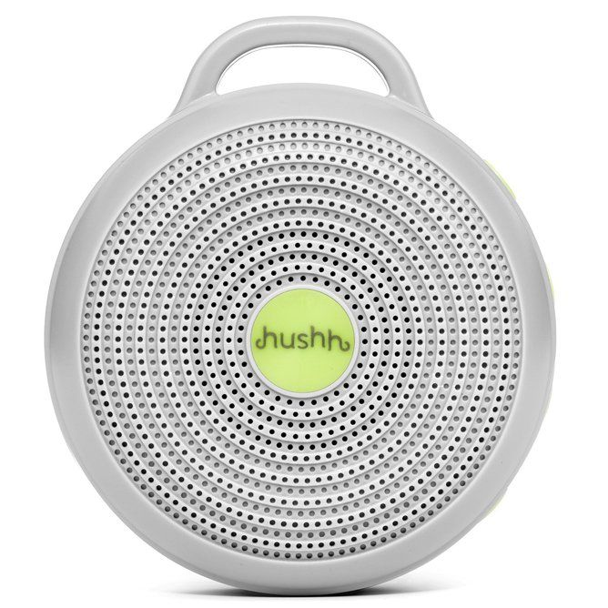 Continuous white noise machine which can be used plugged in or with included rechargeable lithium battery.  Hushh is charged and played using a Micro USB cable, the same way as you charge a phone. Run continuously and turn off using the on/off button as required. There is no timer.