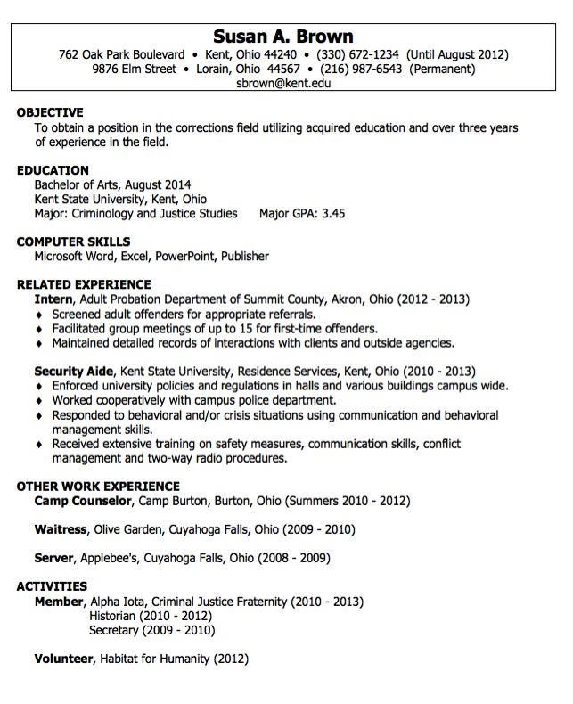 Security Aide Resumes Examples - http\/\/resumesdesign\/security - criminal justice resume samples