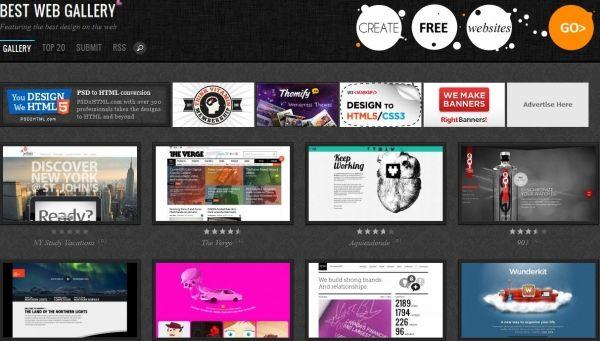 Gdzie szukac inspiracji: Best Web Gallery
