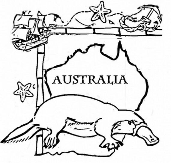 Download Australia Day Colouring Pages Images, Wallpapers