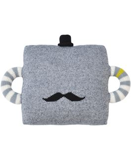 Mustache pillow.. Would DIY with repurposed sweater and then felt black mustache, no handles or hat