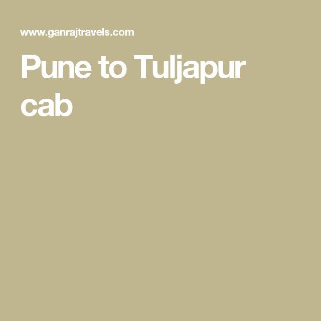 Pune to Tuljapur cab