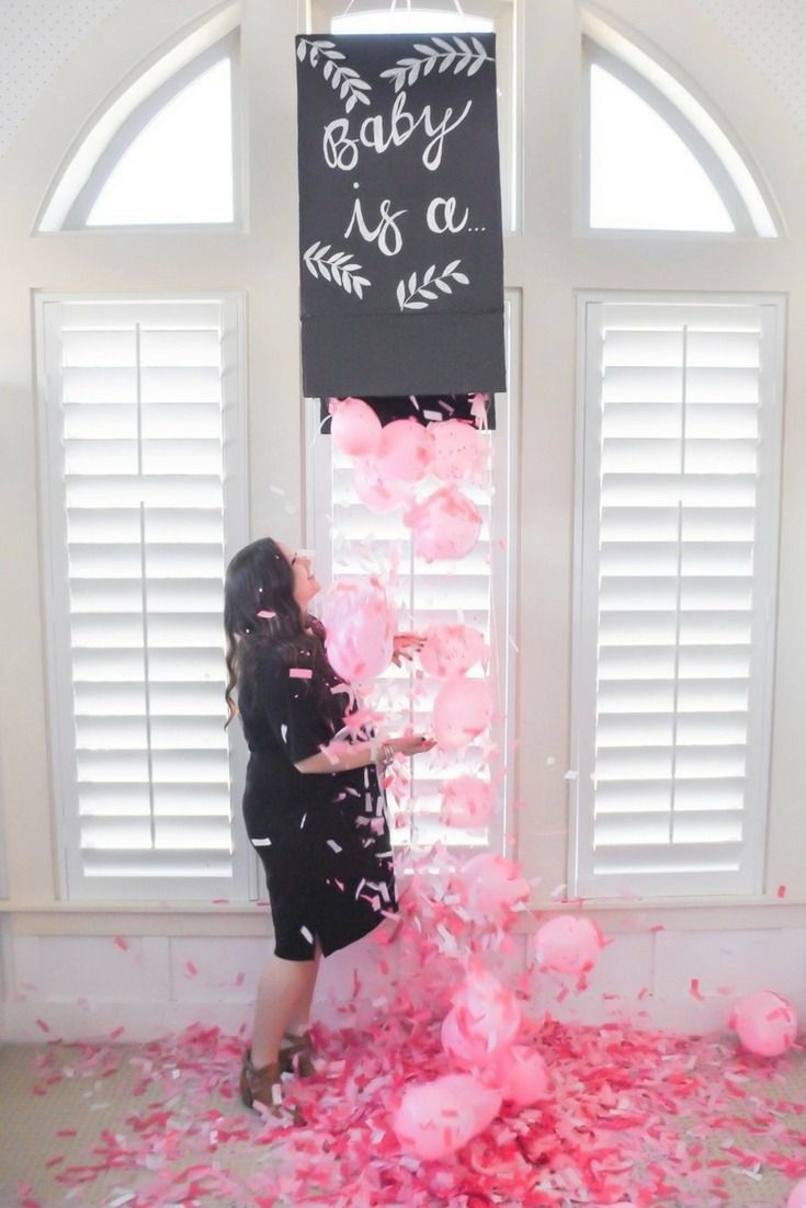 This confetti gender reveal box from @karaspartyideas is simple to make and is a fun way to do the big reveal at your next gender reveal party.