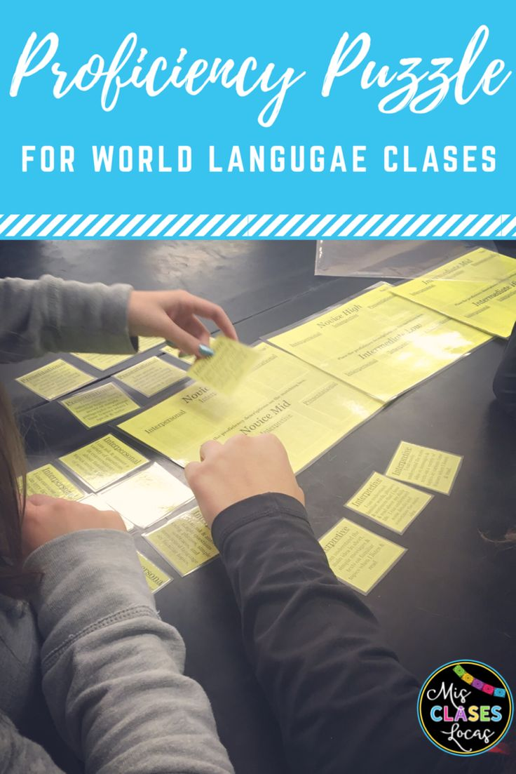 Proficiency puzzle for world language classes. Help student understand how to get from Novice Low to Intermediate High!