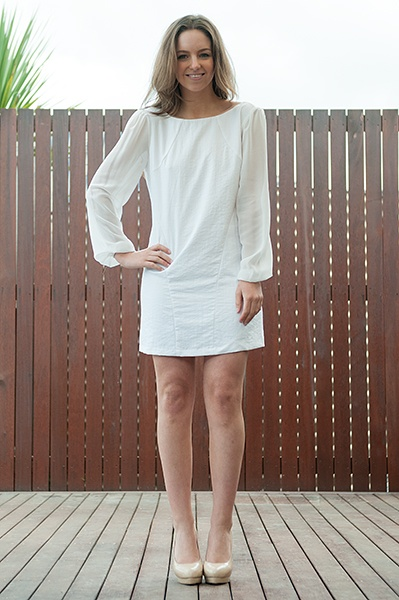 Young Lovers Long Sleeve Dress, Ivory