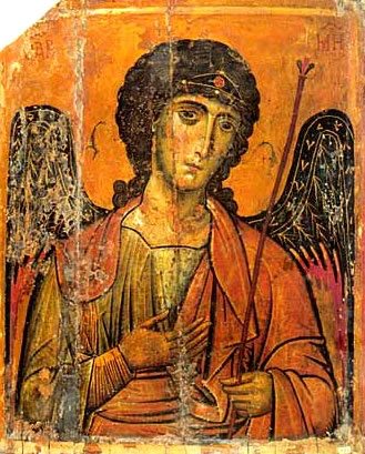13th-century Byzantine icon of St. Michael from Saint Catherine's Monastery, Mount Sinai