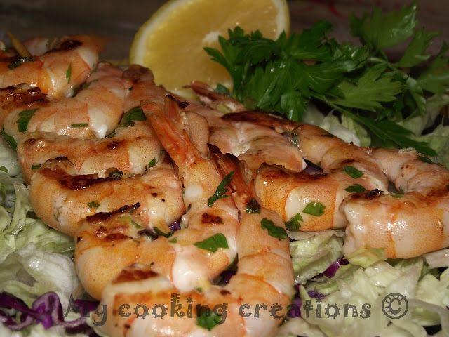 My cooking creations: Spiedini di gamberi * Шишчета от скариди на скара