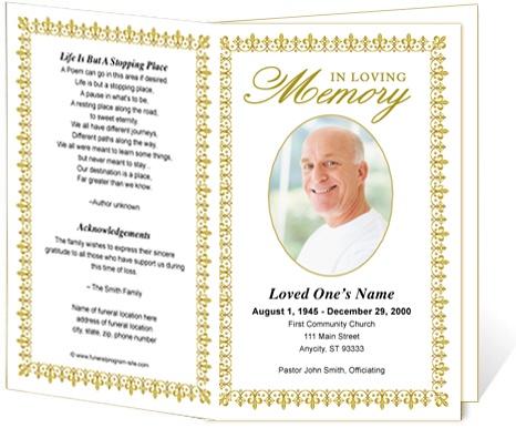 memorial service programs