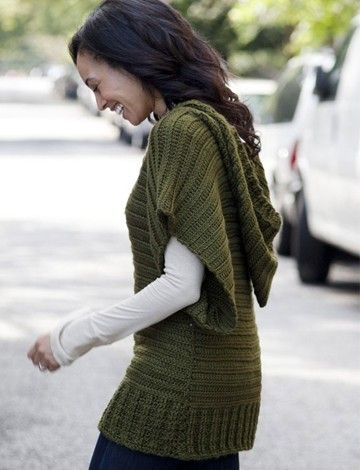 """Caron V-Topper tunic - free pattern (click the words, """"Free Pattern"""" in the green box)"""