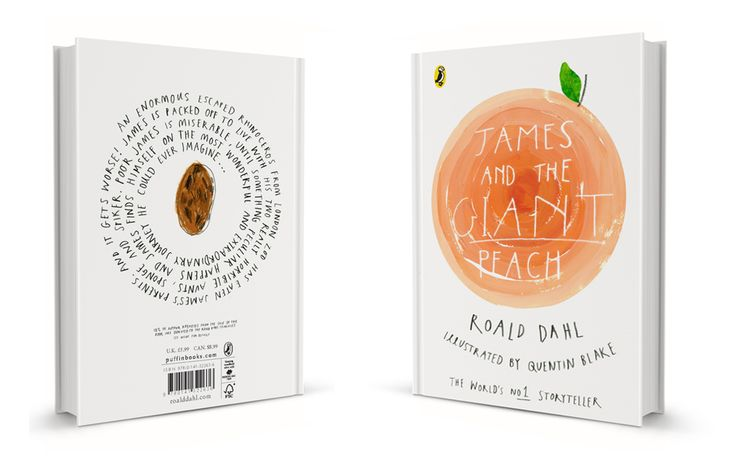 James and the Giant Peach by Roald Dahl / book cover design by Charlotte Trounce