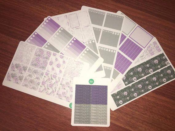 One True Fit Weekly Sticker Kit  Purple by PlannerJunkieSticker
