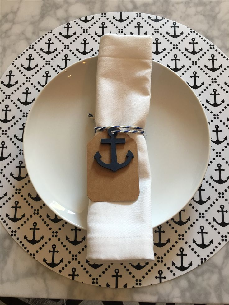 ChicTip Design Anchor napkin ring and tag name on my Etsy store www.etsy.com/shop/ChicTip