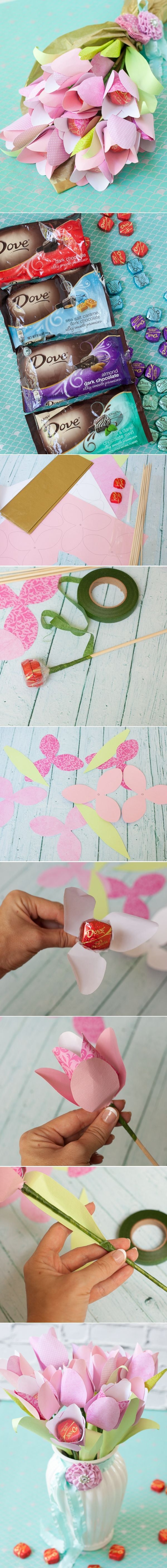 Mother's Day Cheery Chocolate Paper Tulip Tutorial